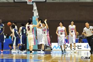 #4遠藤 桐選手はコート内でもしっかりと盛り上げることのできるキャプテン